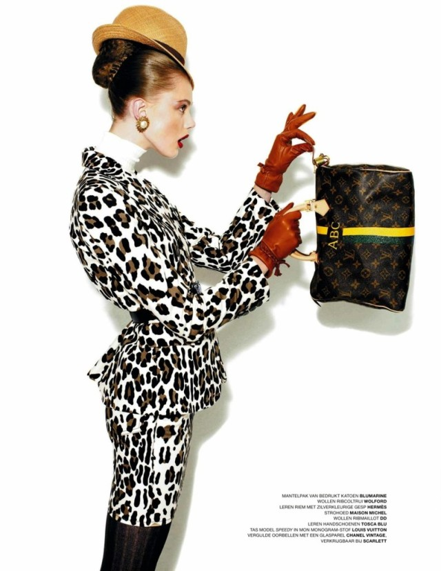 Frida Gustavsson in L'Officiel Netherlands October 2009, Dress Code. 1